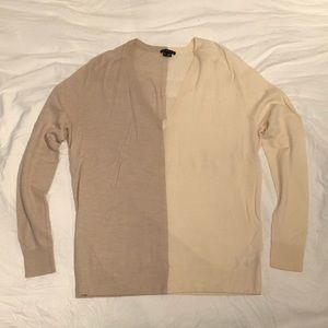 Theory 100% Wool Adrianna Oatmeal Cream Sweater S